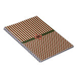 Holiday Gingham Stripes Journal Notebook