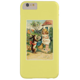 Holiday Girl & Bunny Vintage Easter iPhone 6 Case