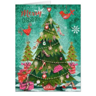 Holiday Girly Christmas Tree | Big Greetings Cards