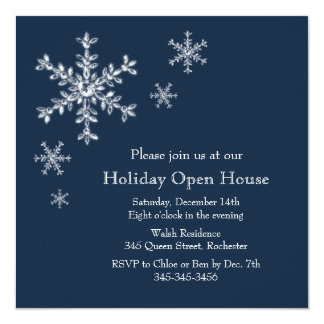Holiday Glamour Open House Invitation (blue)