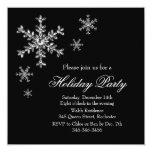 Holiday Glamour Party Invitation (black)