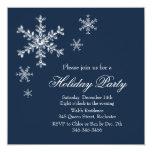 Holiday Glamour Party Invitation (navy)