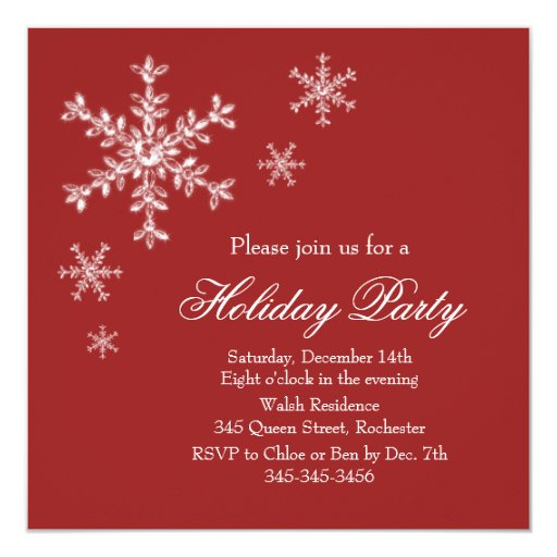 Holiday Glamour Party Invitation (red)