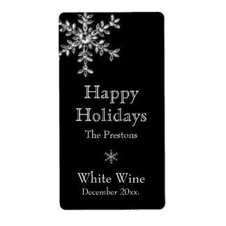 Holiday Glamour Wine Label (black)