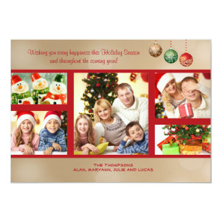 Holiday Glimmer Photo Card
