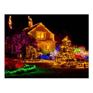 Holiday Glow - Shore Acres State Park, Oregon Postcard