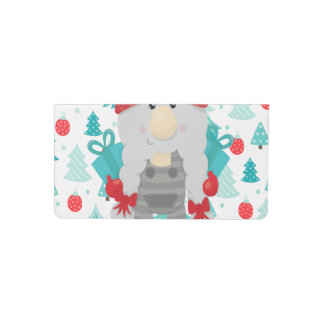 Holiday Gnome with gifts Checkbook Cover