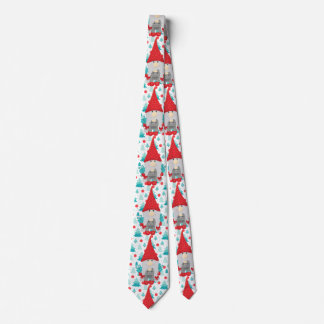 Holiday Gnome with gifts Neck Tie