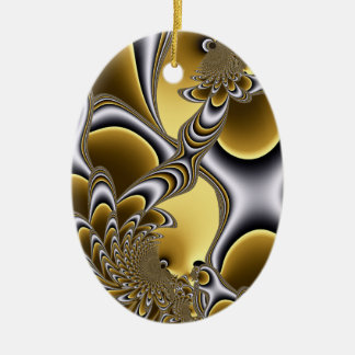 Holiday Gold Oval Ornament