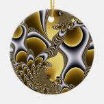Holiday Gold Round Ornament
