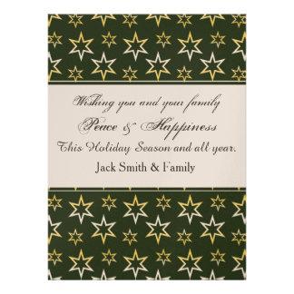 Holiday Gold Stars Custom Invites