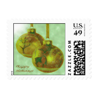 Holiday Golden Ornaments Postage