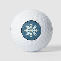 Holiday Golf Balls / Snowflake Design