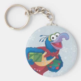 Holiday Gonzo Basic Round Button Keychain