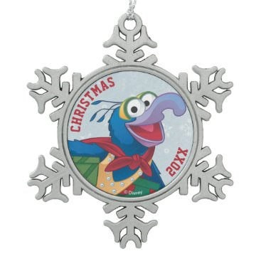 Disney Themed Holiday Gonzo Snowflake Pewter Christmas Ornament