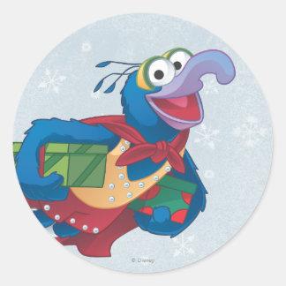 Holiday Gonzo Round Stickers