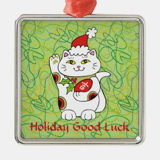 Holiday Good Luck Metal Ornament