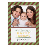 Holiday Green and Red Chevron Card