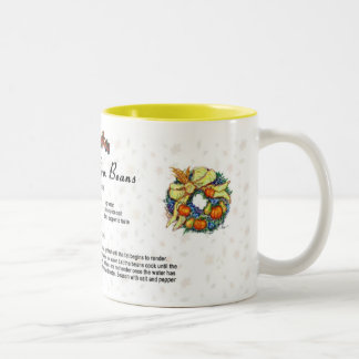 Holiday Green Beans Two-Tone Coffee Mug