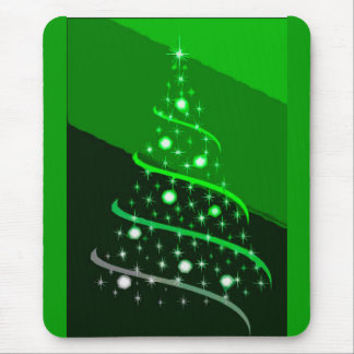 HOLIDAY GREEN BY LIZ LOZ MOUSE PAD