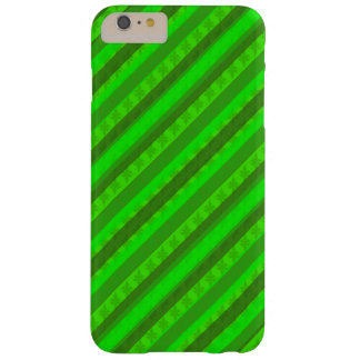 Holiday Green Custom Stiped Decoritive Pattern Barely There iPhone 6 Plus Case