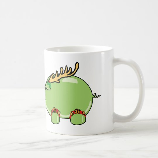 HOLIDAY Green Pig Mug