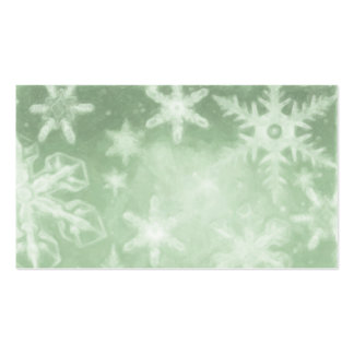 Holiday Green Snowflake Gift Tag Business Card
