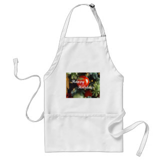 Holiday Greeting Adult Apron