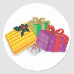 Holiday Greeting Card Envelope Seals Classic Round Sticker