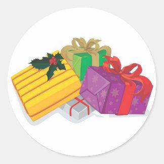 Holiday Greeting Card Envelope Seals Round Sticker