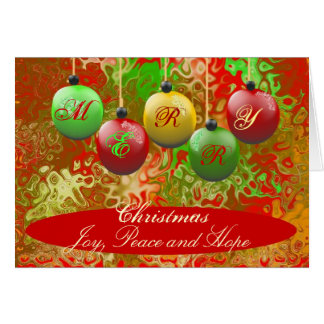 Holiday Greeting Card - Merry Christmas