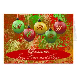 Holiday Greeting Card - Merry Christmas