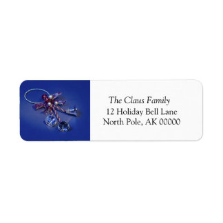 Holiday Greeting Card Self Addressed Label