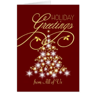 Holiday Greeting Cards - From All of Us - Group