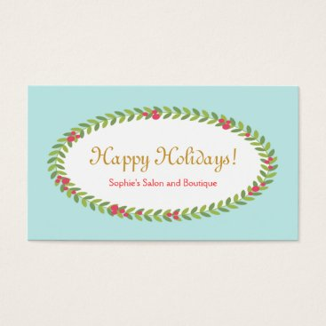 Christmas Themed Holiday Greeting Insert Coupon Gift Card