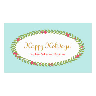 Holiday Greeting Insert Coupon Gift Card Double-Sided Standard Business Cards (Pack Of 100)
