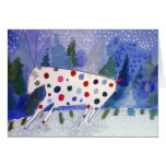 holiday greeting with holiday reindeer greeting card
