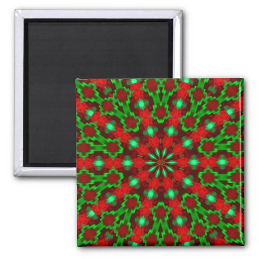Holiday Greetings_ 2 Inch Square Magnet
