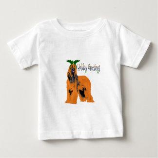 Holiday Greetings Afghan Hound Baby Shirt