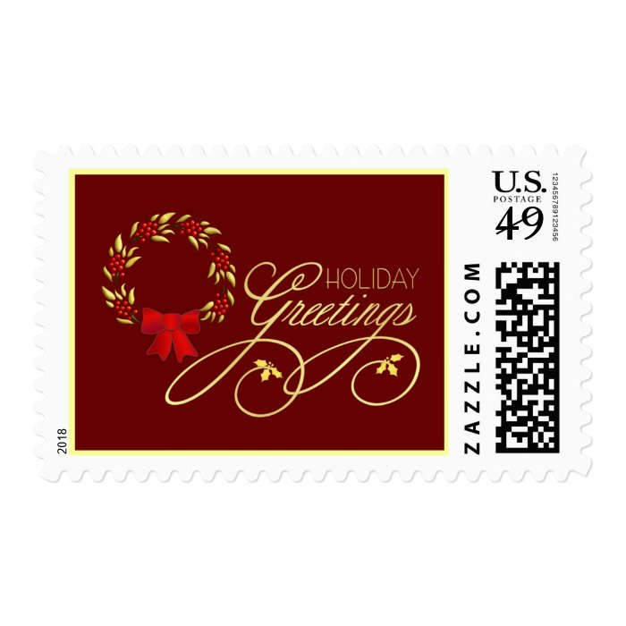 Holiday Greetings - Christmas Postage Stamps