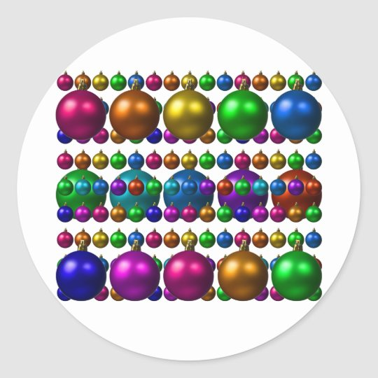 holiday greetings classic round sticker