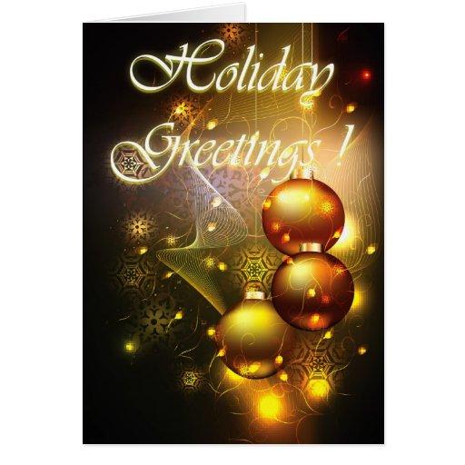 Holiday Greetings dark Card
