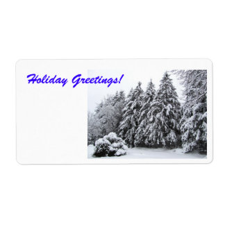 Holiday Greetings Envelope Seal Shipping Label