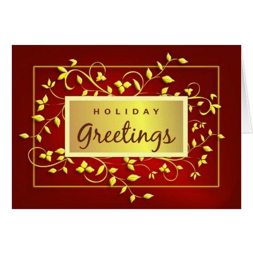 Holiday Greetings - Executive Greeting Card