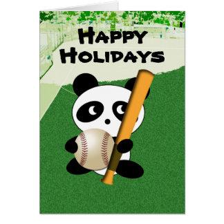 Holiday Greetings for Baseball Fan Card