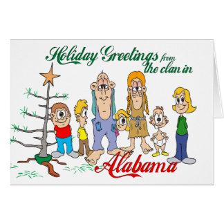 Holiday Greetings from Alabama Card