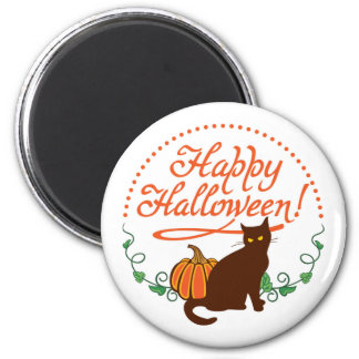 Holiday greetings from black cat magnet