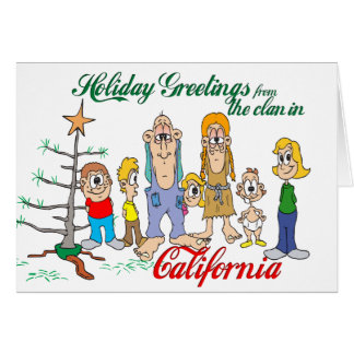 Holiday Greetings from California Card