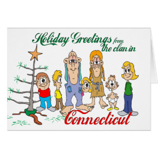 Holiday Greetings from Connecticut Card