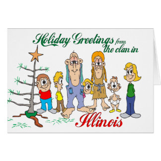 Holiday Greetings from Illinois Card